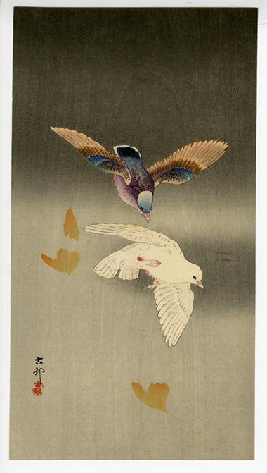 Ohara Koson (Shoson) Pigeons