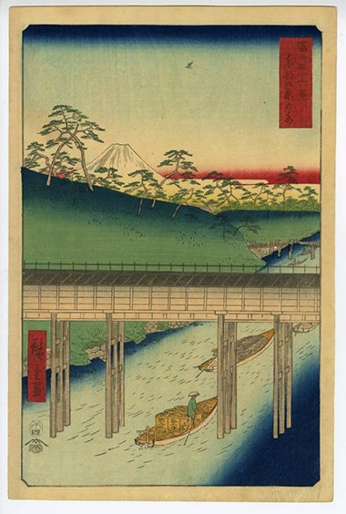 Hiroshige The Thirty-six Views of Mt. Fuji, Ochianomizu in the Eastern Capital